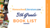 Homeschool Literature Book List